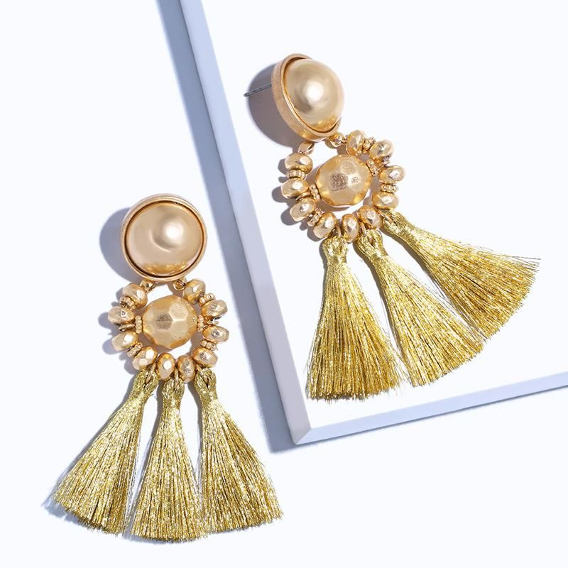 Vintage bohemian tassel earrings NHAS147839