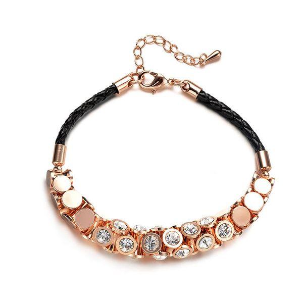 Korean fashion braided rope imitated crystal bracelet NHLJ147854