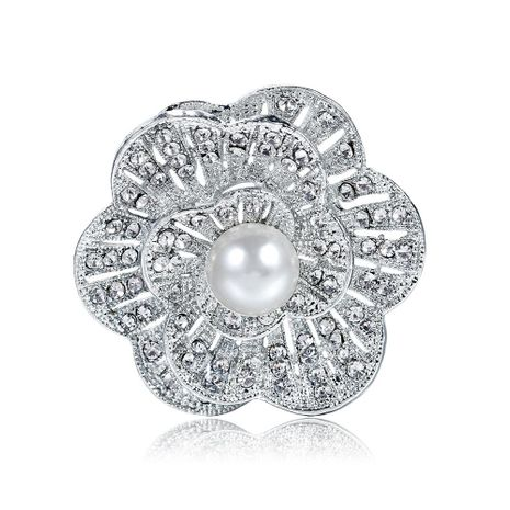 Womens Floral Plating Alloy Danrun Jewelry Brooches NHDR147859's discount tags