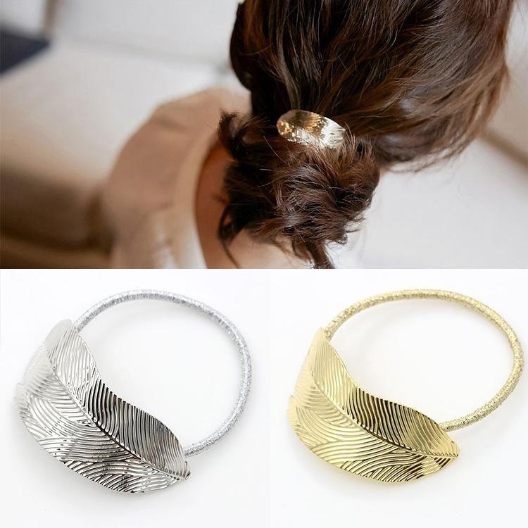 Delicate vintage leaf head flower hair accessory NHDP147876
