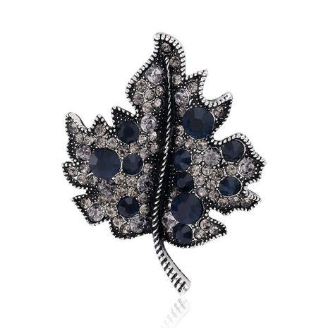Maple leaf with rhinestone brooch NHDR147932's discount tags