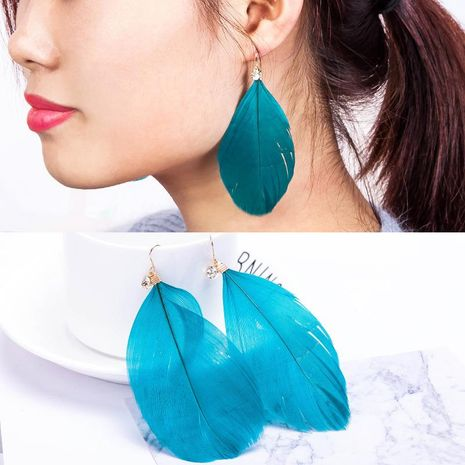 Boucles d'oreilles plumes plumes NHDP147943's discount tags