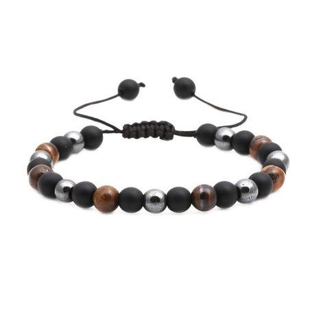 Bracelet tissé mat en pierre naturelle noire NHYL147958's discount tags