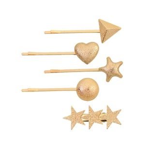 Simple alloy love five-pointed star hair accessories NHHN147965's discount tags