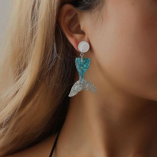 Fashion resin mermaid earrings NHDP147968's discount tags