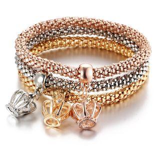 Fashion Imitated crystal Rhinestone Pendant Crown Bracelet NHPJ147969's discount tags