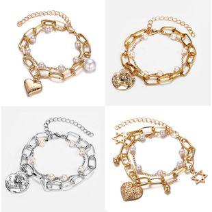 Creative retro simple big style wind beads love double bracelet NHPJ147972's discount tags