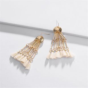 Womens Geometry Electroplating Alloy Earrings NHLU147980's discount tags