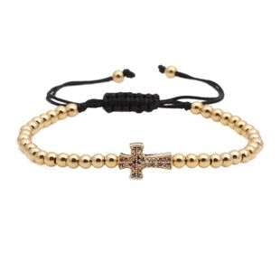 Fashion micro-inlaid zircon color zirconium adjustable braided bracelet NHYL147984's discount tags
