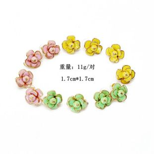 Fashion Candy Color Stereo Petal 925 Alloy Stud Earrings NHOM147990's discount tags