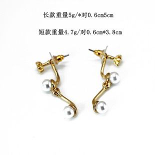 Fashion simple and delicate joint beads earrings NHOM147997's discount tags