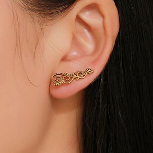Fashion vintage spiral geometric alloy earrings NHDP148001's discount tags