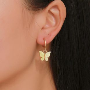 Fashion Color Acrylic Butterfly Earrings NHDP148002's discount tags