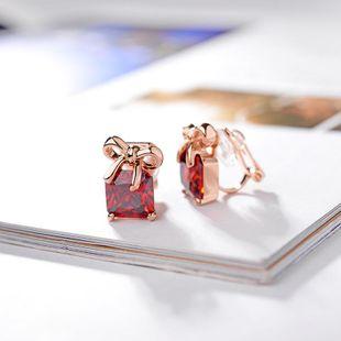 Sleek minimalist bowtie zircon earrings NHLJ148008's discount tags