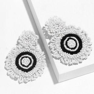 New simple bead earrings NHAS148020's discount tags