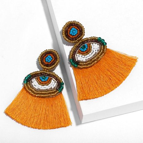 Fashion Devil s Eyes Imitated crystal Tassel Earrings NHAS148034's discount tags