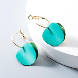 Fashion retro metal disc hit color hoop earrings NHLN148037's discount tags