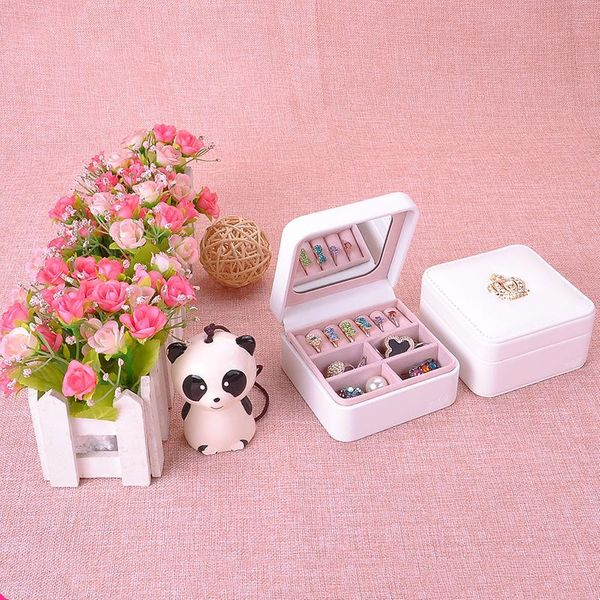 New portable travel jewelry cases leather wooden jewelry boxes NHHW148064