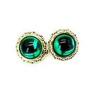 Fashion flower round colored rhinestone earrings NHOM148014