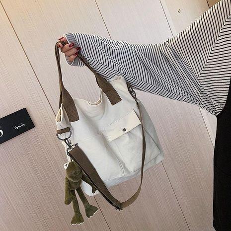 Fashion Broadband Crossbody Canvas Shoulder Bag NHTC139401's discount tags