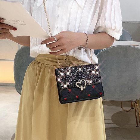 Fashion Messenger Heart Shaped Lock Ocean Chain Bag NHXC139436's discount tags
