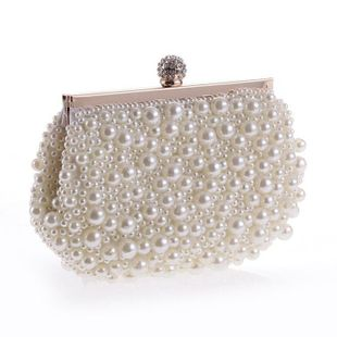 Fashion simple beaded evening bag NHYG139605's discount tags