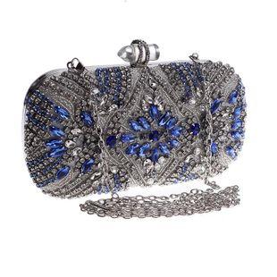 Bolso de cena con hebilla de acrílico y diamantes de moda NHYG139606's discount tags