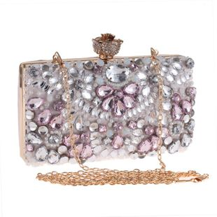 Stylish minimalist beaded evening bag NHYG139607's discount tags