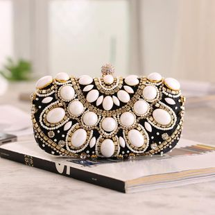 Fashion high-end beaded evening bag NHYG139609's discount tags