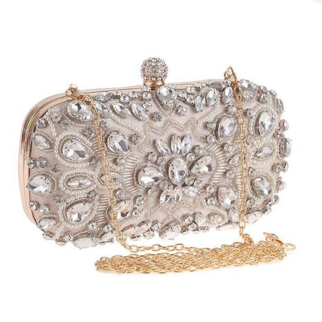 European and American rhinestone dress evening bag NHYG139610's discount tags