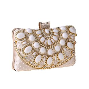 Stylish and simple beaded beads evening bag NHYG139611's discount tags