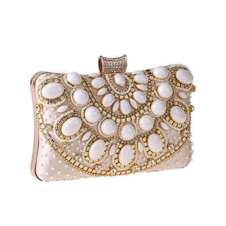 Elegante y sencillo bolso de noche de perlas con cuentas NHYG139611's discount tags