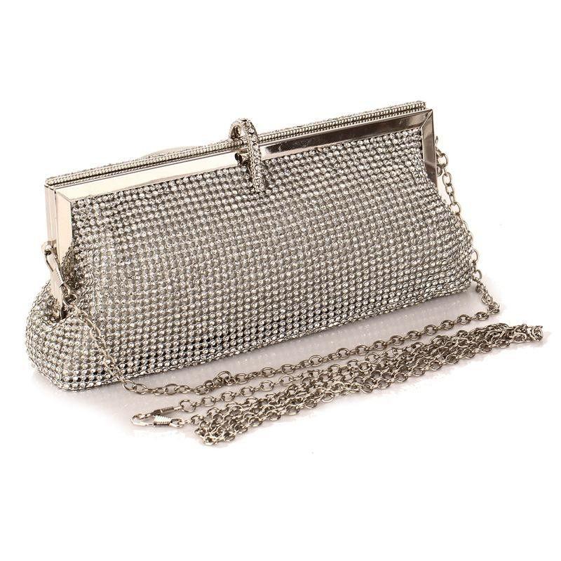 Stylish and minimalist rhinestone evening party bag NHYG139613