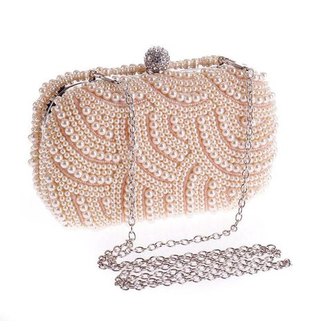 Sleek minimalist beads evening party bag NHYG139614's discount tags