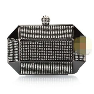 European and American hand-studded rhinestone evening bag NHYG139615's discount tags