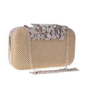 European and American leaves with rhinestone evening bag NHYG139617's discount tags
