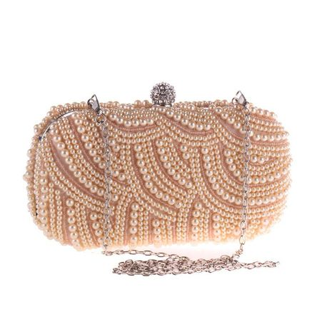 Sleek minimalist beads evening party bag NHYG139622's discount tags