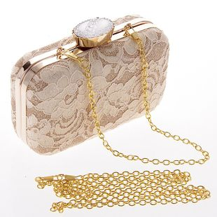 Fashion lace clutch bag evening party package NHYG139626's discount tags