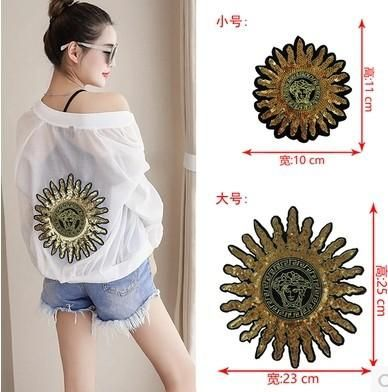 Alloy large embroidered sequins stars sun cloth stickers NHLT148157