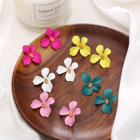 Womens Floral Paint Alloy Earrings NHLN148182's discount tags