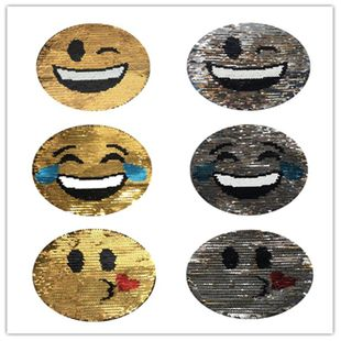 Alloy code alloyen tower gradient color smile face crying sequin cloth NHLT148187's discount tags