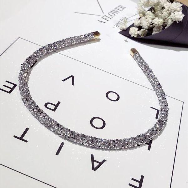 Simple and versatile fine-edged rhinestone imitated crystal headband NHSM148205