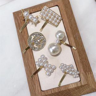Korean version of simple beads rhinestone flower bow hair accessories NHSM148209's discount tags