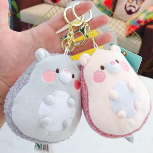 Creative trend abuse sprouting hedgehog keychain NHBM148217's discount tags