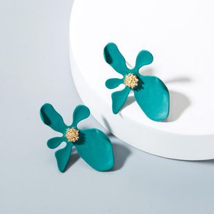 Womens Floral Paint Alloy Earrings NHLN148225's discount tags