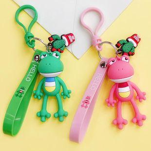 Cute creative cartoon DIY frog keychain NHBM148240's discount tags