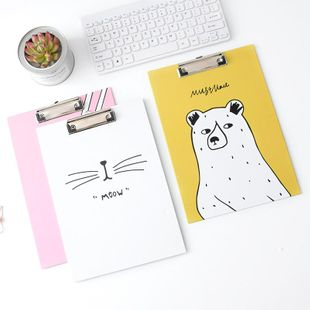 Creative cartoon board clip multi-function A4 folder test paper folder NHHE148253's discount tags