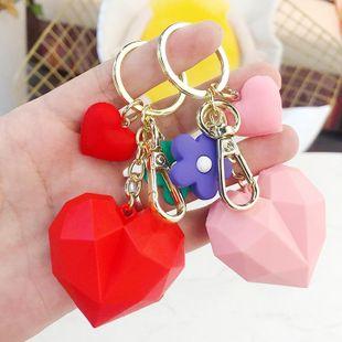 Creative cartoon geometric faceted love keychain NHBM148262's discount tags