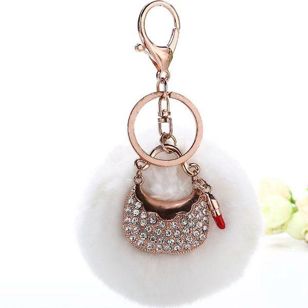 Fashion plush metal keychain NHMM148279