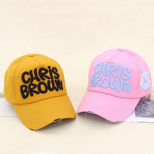 Summer casual wild three-dimensional embroidery letter couple hat NHXB148280's discount tags